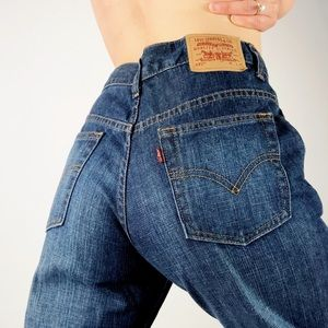 VINTAGE LEVIS | 577 High Waisted Wide Leg Jeans